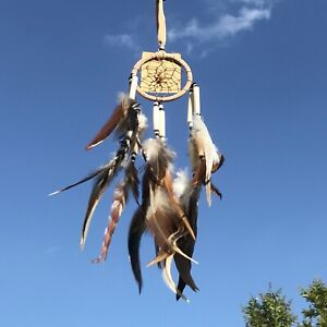 New Natural Traditional Style Cream Dream Catcher Native American Hanging Mobile