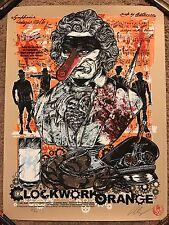 Rhys Cooper Signed Clockwork Orange Print Movie Poster Mondo Stanley Kubrick