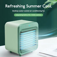 USB Rechargeable Desk Water-cooled Air Conditioner Outdoors Indoor Bedroom
