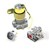 110 Gph Universal Electric Fuel Pump Chrome Regulator & Gauge Combo Kit