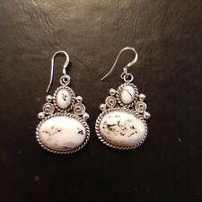 Sterling & White Buffalo Earrings Linkin