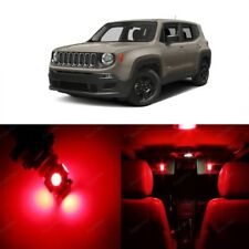 11 x Red LED Interior Light Package For 2015 - 2018 Jeep Renegade + PRY TOOL