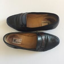 Moreschi Pero Leather Moccassin Black and Brown Mens 7.5M originally $355