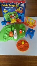 Vintage 1986 Fisher-Price 2525 Little People PLAYGROUND Boxed COMPLETE L@@K!