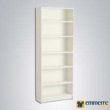 Libreria scaffale 6 vani bianco frassino L.80 P.27 H.200 cm art. 80.16.035