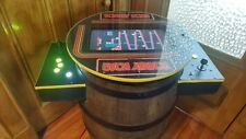 Donkey Kong Cocktail Arcade Machine Real Whiskey Barrel 60 Arcade Classics