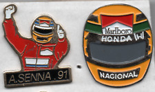 AYRTON SENNA Mclaren F1 1991 World Champion 2 ENAMEL LAPEL PIN BADGES (88)