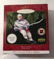 1997 Wayne Gretzky New Hallmark Hockey Ornament New York Rangers Card