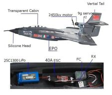 RC Airplane Fighter Wingspan Polypropylene resin 640mm 2.4Ghz 6CH