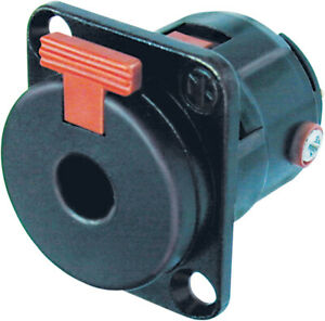 Neutrik NJFP6C-BAG 6.35 mm Locking Stereo Jack Chassis Socket With Silver Plated