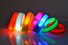 Flashing LED Safety Night Reflective Belt Strap Arm Band For Cycling Running New