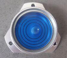 Niveau à Bulle d'Air Circulaire Bulls Eye Boîtier Métallique Vertical, Bleu