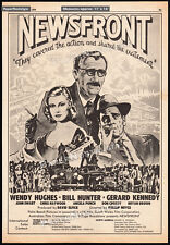 NEWSFRONT__Original 1978 Trade AD / poster__WENDY HUGHES__BILL HUNTER_JOHN EWART