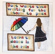 Dance in the Rain-Cross Stitch Kit-Emma Louise Puntada De Arte - 28.8cm X 26.7cm