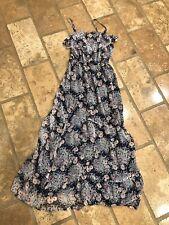 Joie  Women's Maxi dress Floral Navy Pink Red Blue Ruffle Silk Small