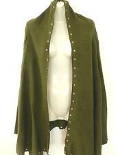 Ladies Knit Jacket Drape Cardigan Jumper Size 10 Small Medium Khaki New SALE
