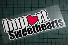 IMPORT SWEETHEART Sticker Decal Vinyl JDM Euro Drift Lowered illest Fatlace Vdub