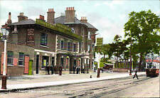 Hendon. The Old Welsh Harp by W. Briggs, Hendon. Tram.