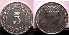 STRAITS SETTLEMENT 5 Cents 1903 AG A/UNC