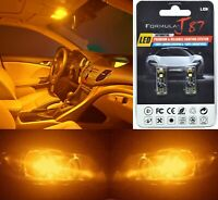 Canbus Error LED Light 194 Orange Amber Two Bulbs License Plate Tag Replace Fit