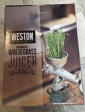 NIB Weston 36-3701-W Cast Iron Wheat Grass Juicer Manual B275 Healthy Greens