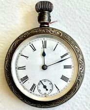Pocket Watch Sterling Silver Antique Waterbury Watch Co Rugby