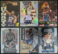 Lot of (6) Patrick Ewing, Including Mosaic Silver, The Naturals AP, Prizm & more