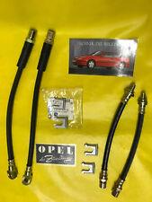 NEU Satz = 4 Bremsschlauch vorne + hinten für alle Opel Calibra incl. Klammern
