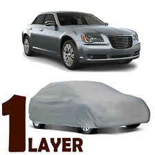 TRUE 1 LAYER GRAY FITTED CAR COVER OUTDOOR WATER SUN RESISTANT for CHRYSLER 300