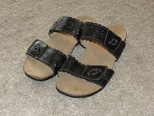 Looks New Womens Earth Origins by Earth Shoes 9.5 W Black Straps Sandal Shoes