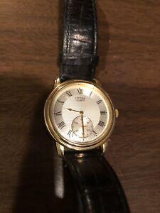 Citizen Quartz Watch Running Mens Wristwatch New Battery