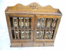 Old Vtg Mid-Century WOOD SPICE JAR RACK Wall/Counter Mount Kitchenware Eames Era