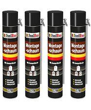 4 x 750 ml MONTAGESCHAUM MIT AUSSPRÜHROHR PU-SCHAUM  BAUSCHAUM 1K