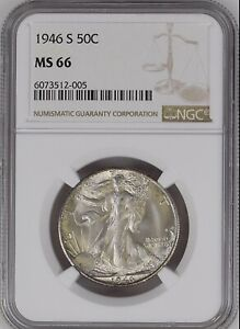 1946-S 50C Liberty Walking Half Dollar NGC  MS66               6073512-005