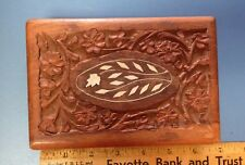Vintage Hand Carved Wooden Box Made In India Of Himalayan Jungle Sheesham Wood