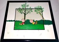 Peanuts Cel Snoopy Come Home Charlie Brown Linus Original Production Cell Sketch