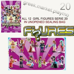 PLAYMOBIL  70149 GIRL ALL 12 FIGURES MEXICAN JOAN OF ARC  SERIE 20 NEW SEALED