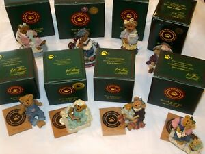 Lot Of 8 Boyds Bears Bearstone Collection Figurines All New In Boxes - Nice ~ S9