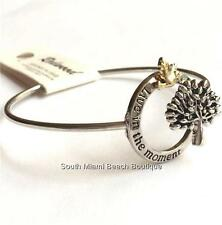 Silver Tree of Life Bracelet Bangle Celtic Live in the Moment Message USA Seller