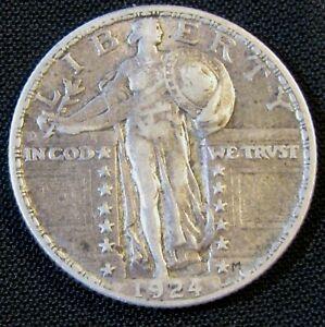 1924 25C Standing Liberty Silver Quarter  AN10