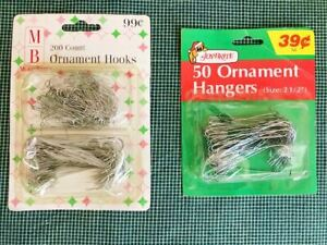 2 Packages of Vintage 🎅 Christmas Ornament Hooks Hangers 250 in 2 sizes