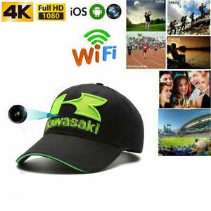 Wireless 4K HD 1080P SPY Camera Recorder Baseball cap Hat Hidden WIFI Mini DVR