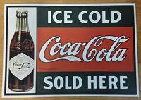 Vintage Coke Coca Cola Metal Sign!