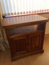 TV Unit Jali Indian Sheesham Cabinet solid wood rustic look stand heavy