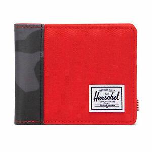 Herschel Supply Co. Men's Roy+ RFID Wallet Fiery Red/Night Camo Travel School