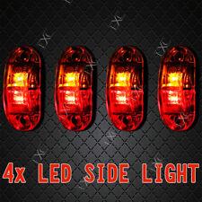4X Caravan LED SIDE MARKER CLEARANCE LIGHT Trailer 12V 24V - RED AMBER