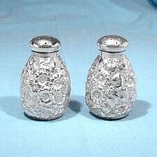 Shiebler Sterling Repousse Salt & Pepper Set #1273 ~ No Mono
