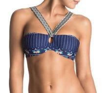 Roxy Womens L/12 UNDERWIRE BANDEAU BIKINI Bathers Swimwear - Navy Rrp $59.99