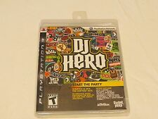 DJ Hero game case insert only Sony Playstation 3 PS3 NEW Sealed
