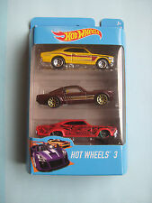 Diecast Hotwheels 3 Pack Chevrolet SS/Mustang Fastback/'65 Impala on Blister